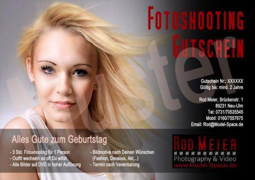 Fotoshooting Geschenk Gutschein