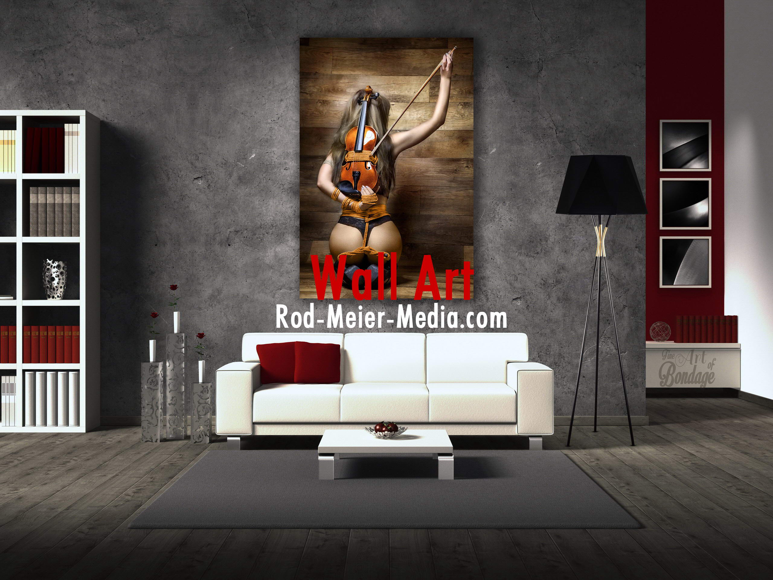 Wall Art - Wandbilder - Shibari Artwork