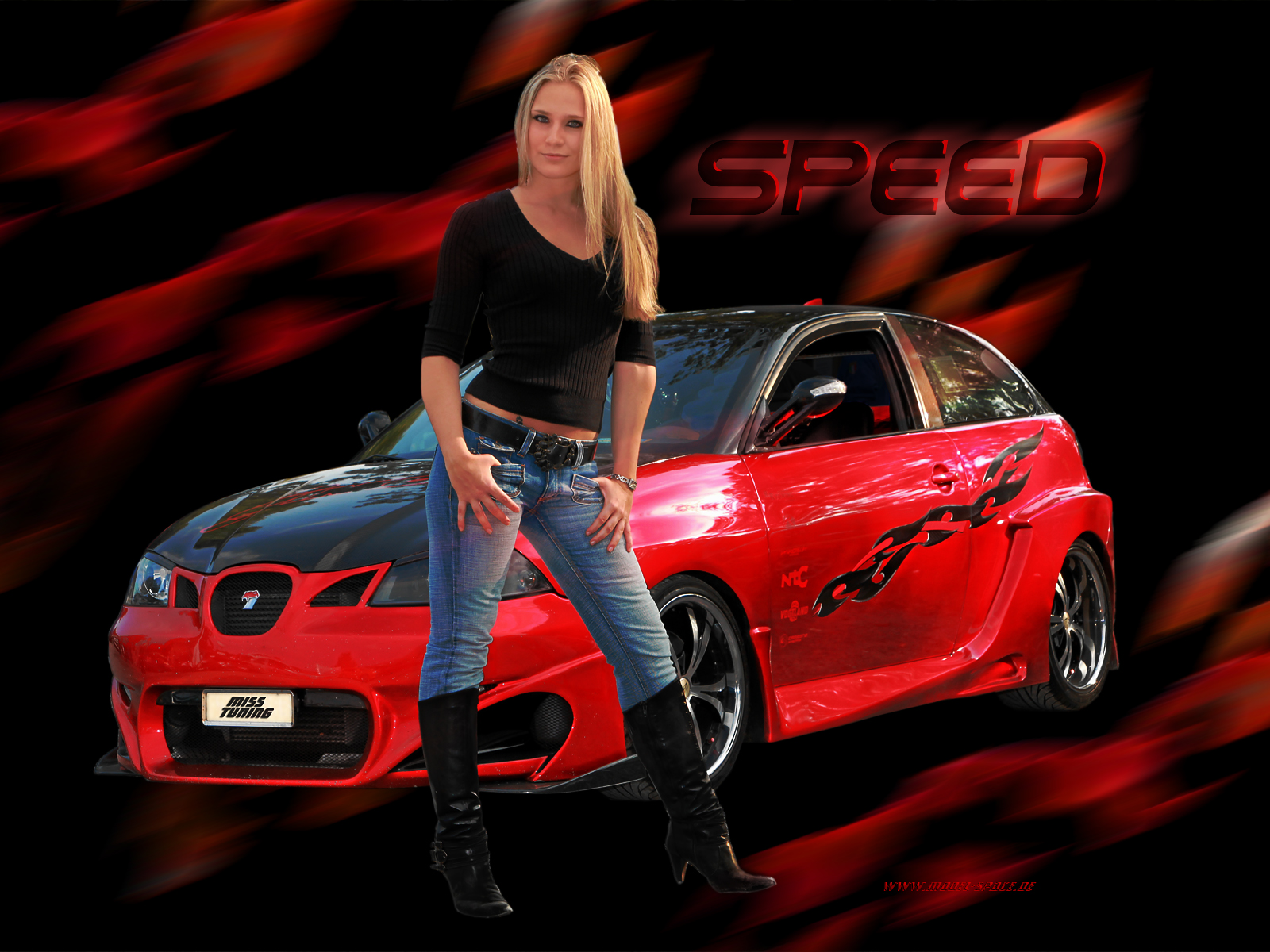 girls and tuner car - photo #18