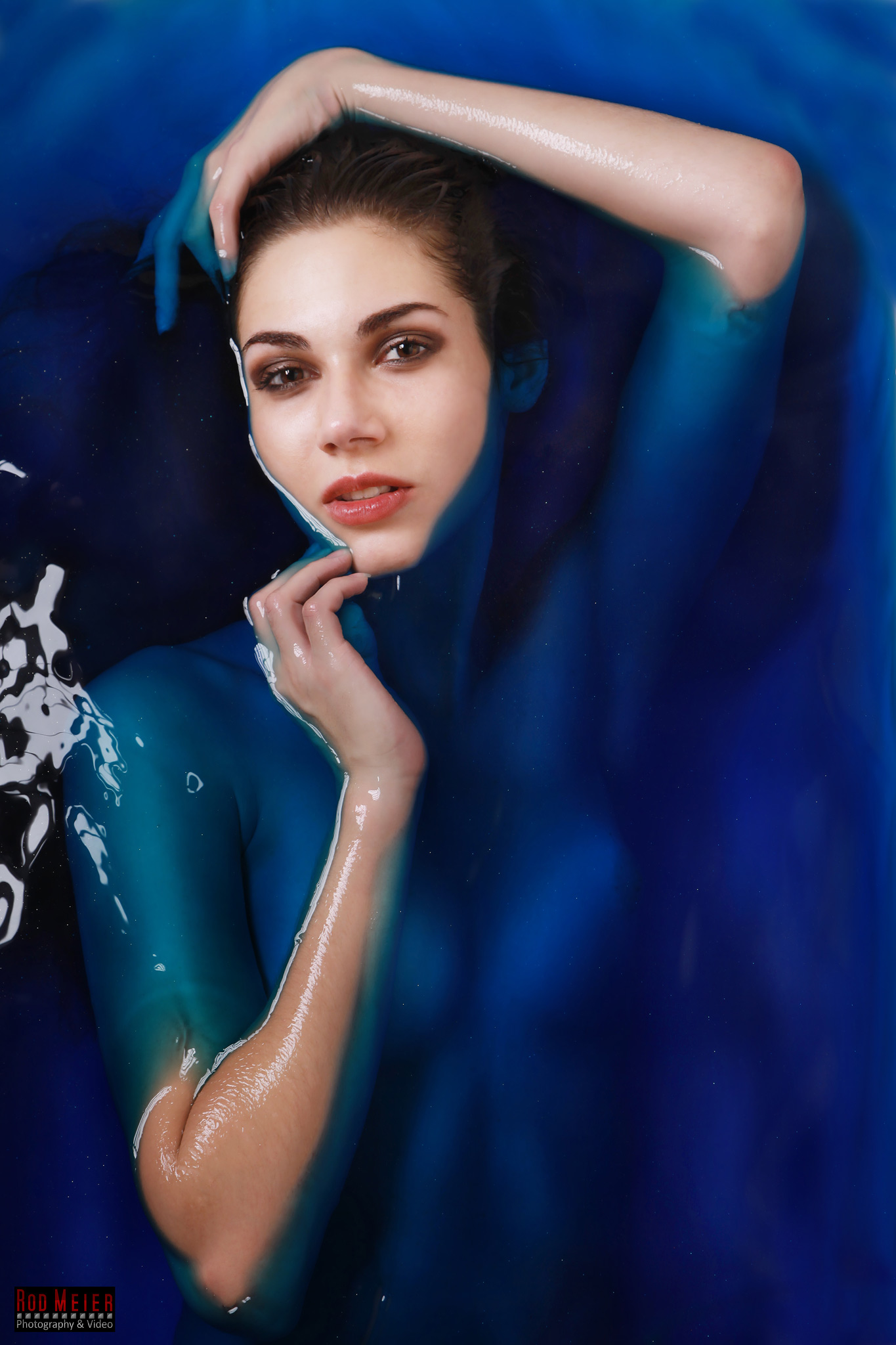 Blue Water Portrait - Badewannen Fotoshooting