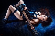 Guitar Portrait in Lingerie