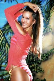 Girl im Bikini, Palmen