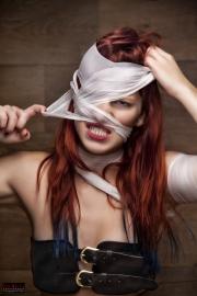 Crazy Gesichtsbandage Fotoshooting