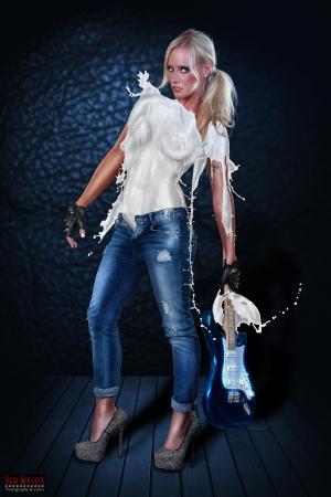 Milk Dress - Rockstar Girl