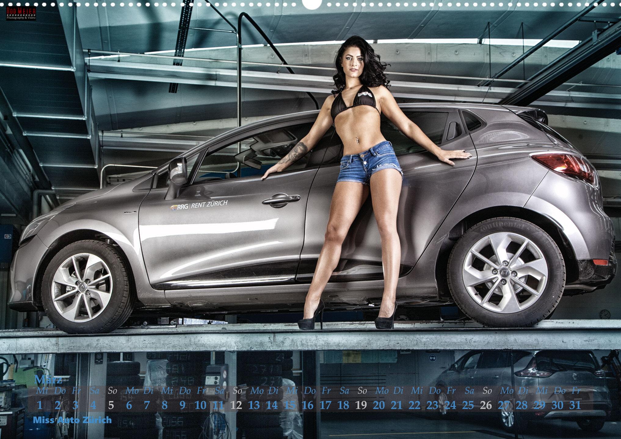 Miss Auto Zürich Calendar 2017